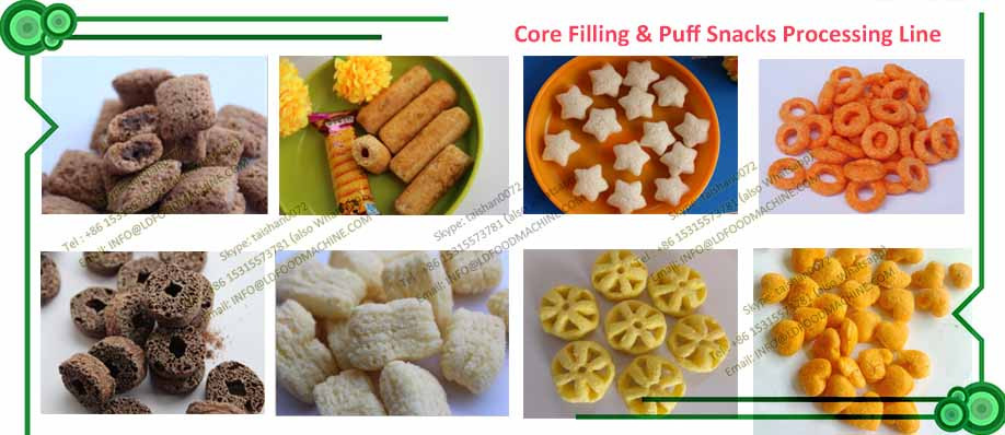 150kg/h-250kg/h Capacity Puffed Snacks Extruder machinery