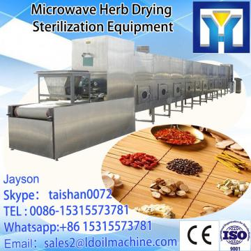 tunnel Microwave type microwave Gentian root / medical herbs drying machine /dryer /sterilizer