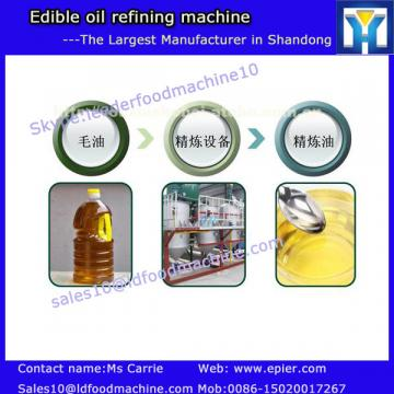 Automatic cooking oil refining machine process manufacturer with ISO CE TUV certificate
