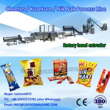 Extruded corn twist curl snacks food make