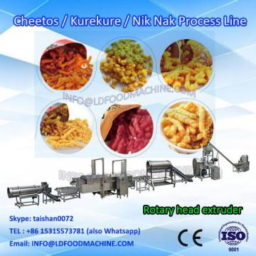 Rotary head corn curls make machinery,Extruded Inflated Corn Curl make machinery