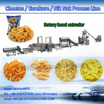 120kg/h Corn curls extruder machinery cheetos Kurkure Nik Naks processing line