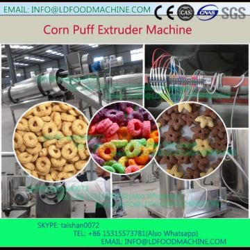 Small scale corn flour inflated snacks food extrusion
