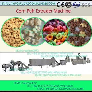 small roasted puff corn snack extruder