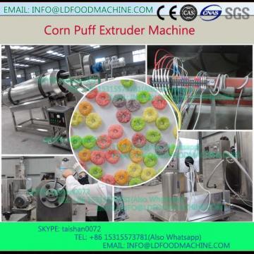 Inflating pellet single screw puffed  extruder mak corn circle food