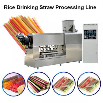 Pasta straw process line /Eco-friendly Rice Flour Drinking Straw making machine